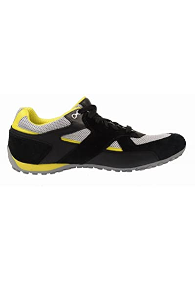Geox U4207F Herren Sneaker LederMesh, Schwarz, Größe 47