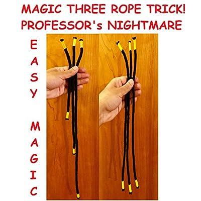 NEW ROPE MAGIC TRICK PROFESSORs NIGHTMARE - 3 ROPE TRICK - CLOSEUP MAGIC TRICK by QUICK PICK MAGIC: Toys & Games
