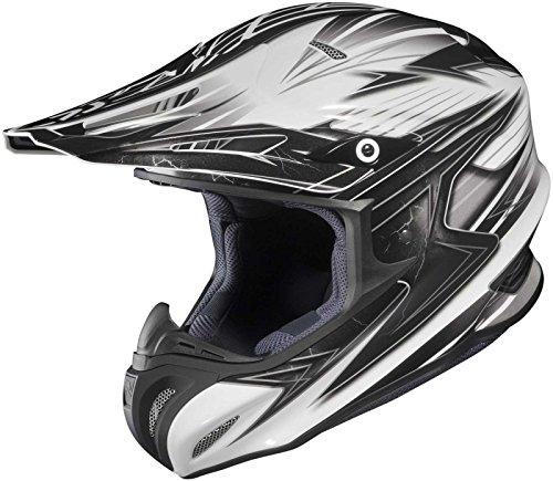 HJC Helmets Factor MC-5 Graphic RPHA X Off-Road Helmet (Black/Silver/White, Small)