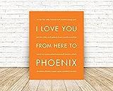 PHOENIX Arizona State Travel Art Print