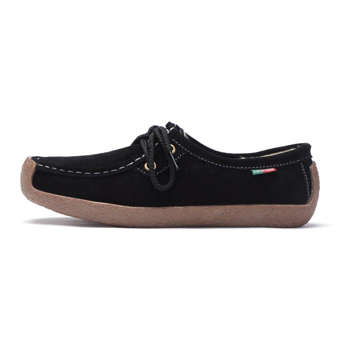 ... Z.SUO Mocassini Donna in in in Pelle Scamosciata Moda comode Loafers Scarpe  da Guida ... e97afaaf52b