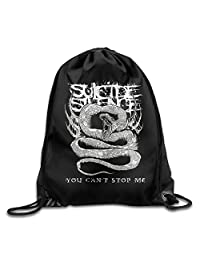 You Can T Stop Me Suicide Silence Logo Drawstring Backpack Bag