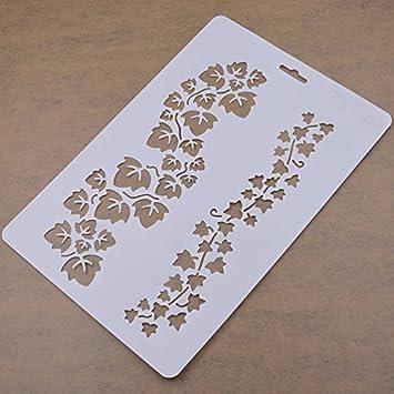 YNuth Schablone Wandschablone Vogel Rose L/öwenzahn Textil Airbrush Malen Dekor