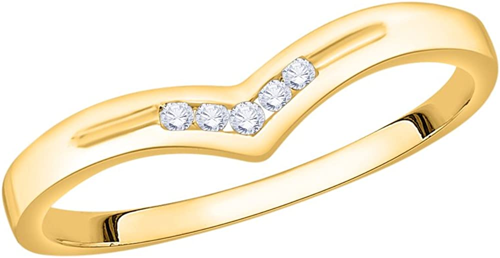 1//20 cttw, Diamond Wedding Band in 10K Yellow Gold Size-10 G-H,I2-I3
