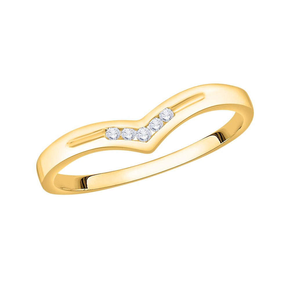 G-H,I2-I3 1//20 cttw, Diamond Wedding Band in 10K Yellow Gold Size-12.25
