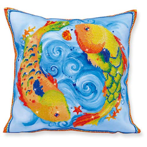 (Diamond Dotz Dancing Fish Pillow 5D Diamond Painting Facet Art)
