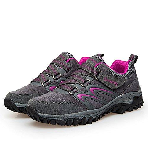 gracosy Women's Hiking Shoes,Waterproof Skid-Proof Lightweight Sneaker for Running Trekking Outdoor Training Grey 9 B(M) US