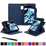 Fire HD 6 2014 Case, rooCASE Dual View Fire HD 6 Folio Case Cover with Stand [Supports Auto Sleep/Wake Feature] for Amazon Fire HD 6 2014, Navy
