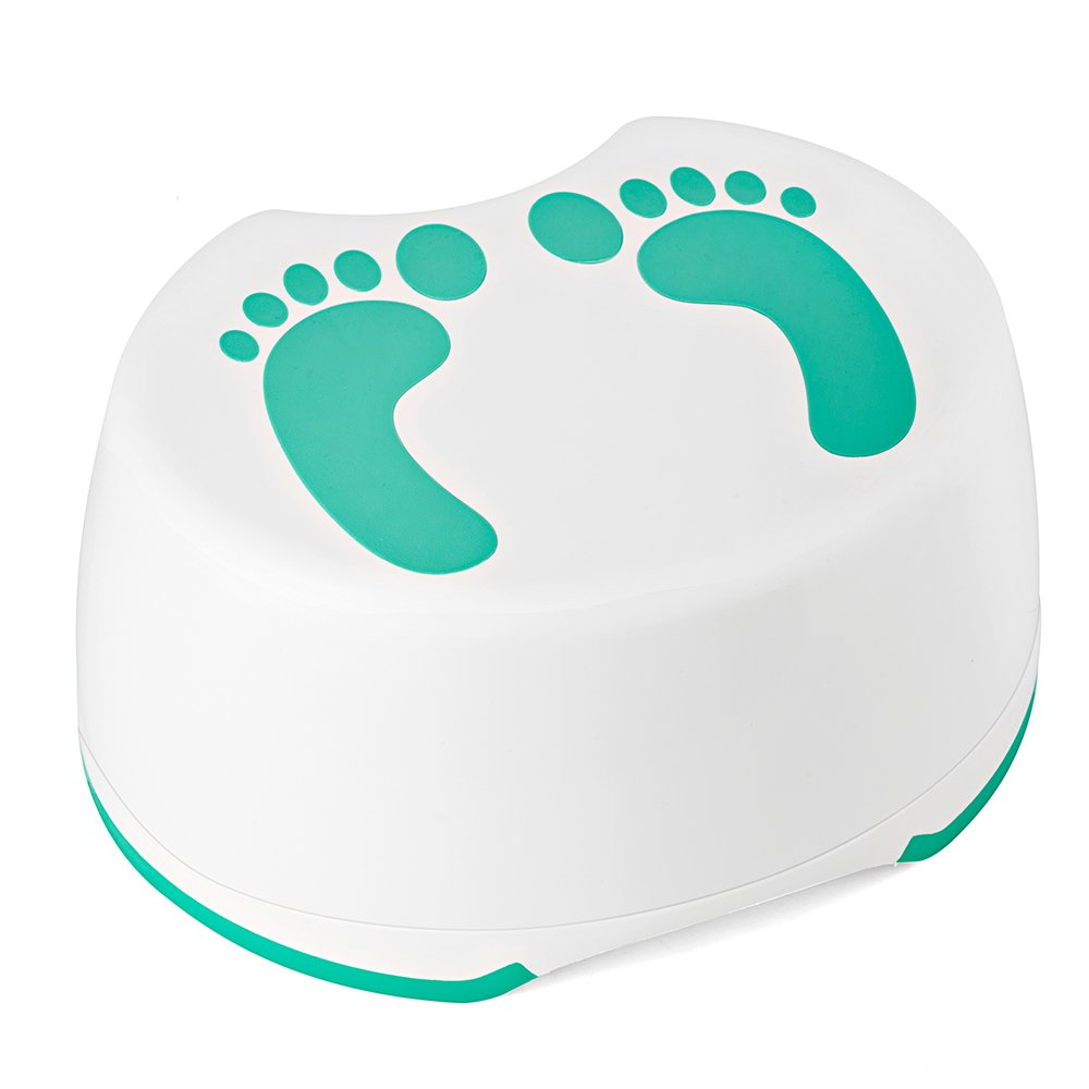 Acko Step Stool For Children Anti-Slip Bathroom and Kitchen Foot Stool Mommy Helper Perfect For Baby Kids Potty Training, Hand Washing, Teeth Brushing (Green)