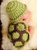 Parent Sweet Love Handmade Crochet Knit Tortoise Shaped Baby Hat Fanny Costume