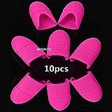 MISMXC 10Pcs Nail art Tips Silica gel Nail Soak Off UV Gel Art Polish Remover Wrap Cap (Rose)