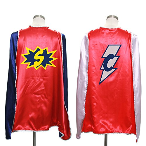 Everfan Personalized Adult Superhero Cape | Superhero Capes for Adults | Satin Costume Cape (38