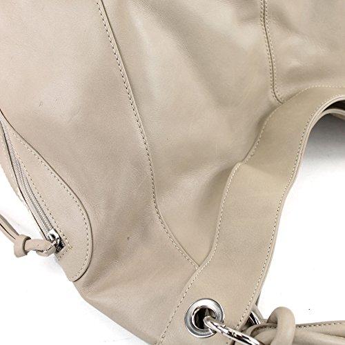 mujer al Italy Made para cuero de Bolso hombro Helltaupe Fx01z0