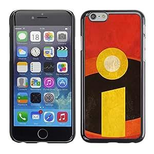 Plastic Shell Protective Case Cover || Apple iPhone 6 Plus 5.5 || Purple Vignette Flower Teal @XPTECH