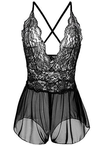 Avidlove Women Lingerie Lace Babydoll One Piece Jumpsuit Pant Dress