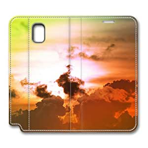 Brain114 Fashion Style Case Design Flip Folio PU Leather Cover Standup Cover Case with Colorful Sky 1 Pattern Skin for Samsung Galaxy Note 3