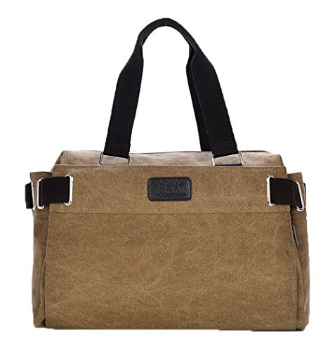 Agoolar Women Work Satchel-style Canvas Bags Cross Shoulder Bags, Brown Gmxbb181183