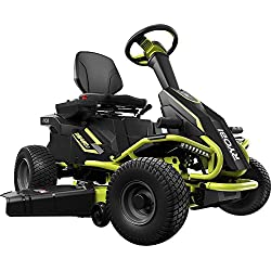 "Ryobi 38"" Battery Electric Rear Engine Riding Lawn Mower RY48110"