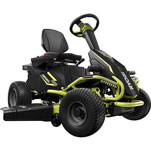 "Ryobi 38"" Battery Electric Rear Engine Riding Lawn Mower RY4"
