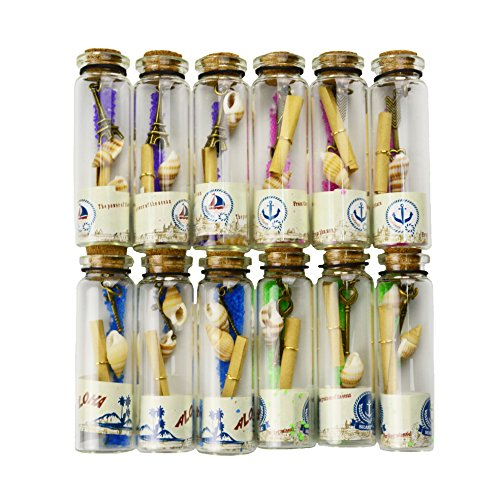 Aokbean-12pcs-Coastal-Wedding-Party-Favors-Clear-Glass-Wishing-Bottles-with-Cork-StoppersSeashell-and-Inside-Steam-Punk-Pendants-for-Home-Decor-Birthday-Gifts