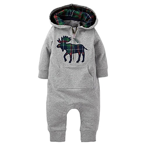 Infant Christmas Reindeer Jumpsuit Outfits