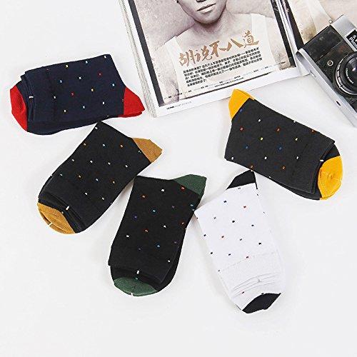 ZYTAN des chaussettes, collants pour hommes, des profils, coton Chaussettes Hommes, chaussettes, Sweat respirante Dot 39-44 mètres 5 paires