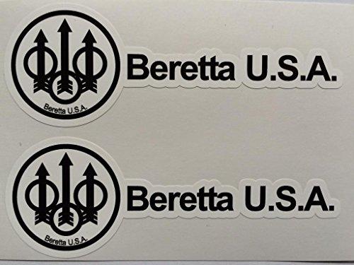 2 P. Beretta Handgun Name & Logo Die Cut Decals by SBD DECALS