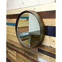 Reclaimed Wine Barrel Top Mirror