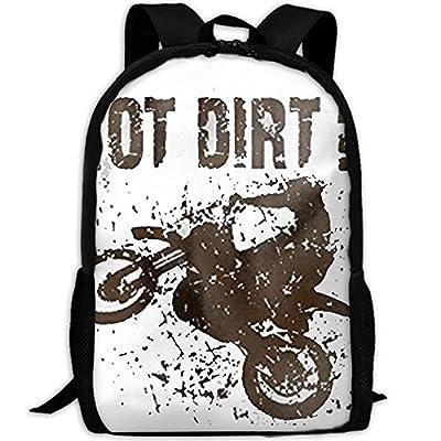 CYMO Got Dirt Bike Motorcross Racing Unique Casual Backpack School Bag Travel Daypack Gift: Toys & Games
