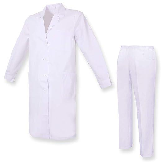 MISEMIYA - Bata Laboratorio Y PANTALÓN - Cuello REFORMADO Uniformes Sanitarios Uniforme MEDICOS Bata Mujer Bata Blanco - Ref.81618: Amazon.es: Ropa y ...