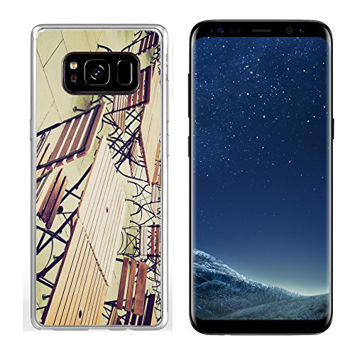 (Luxlady Samsung Galaxy S8 Clear case Soft TPU Rubber Silicone IMAGE ID 27620877 Vintage looking Tables and chairs of a dehors alfresco bar restaurant pub)