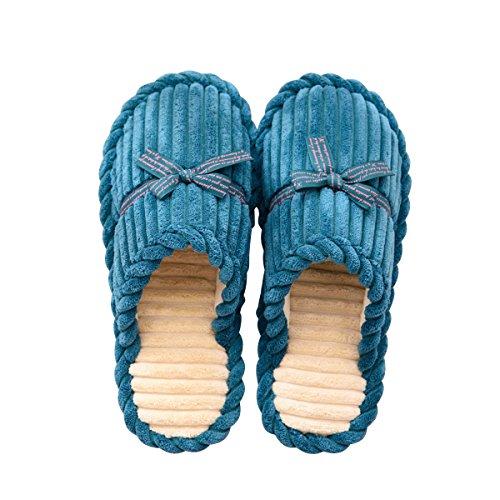 Pantofole Di Peluche Invernali Slduv7 (2017 Nuove) Scarpe Calde Accoglienti Per Donne, Uomini, Ragazze, Coppie Verdi