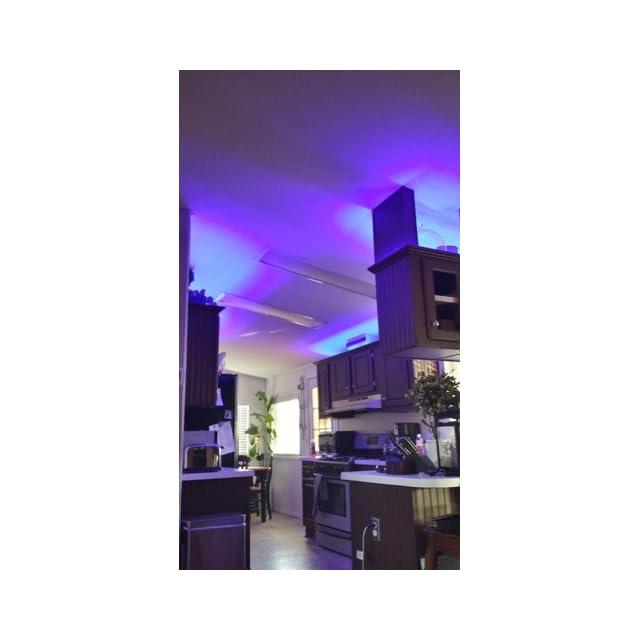 SUPERNIGHT 16.4ft 5M Waterproof Flexible strip 300leds Color Changing RGB SMD5050 LED Light Strip Kit RGB 5M +44Key Remote+12V 5A Power Supply