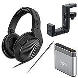 Sennheiser HD 200 Pro Monitoring Headphones plus FiiO Headphone Amp and Headphone Hanger