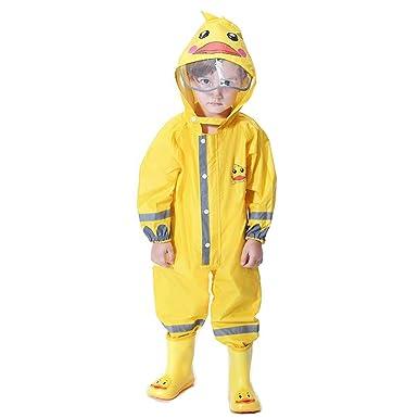 f9b229c609f86 mama stadt Unisex Enfant Combinaison Impermeable Animal Tridimensionnel  Manteau Imperméable Ponchos de Pluie avec Capuche