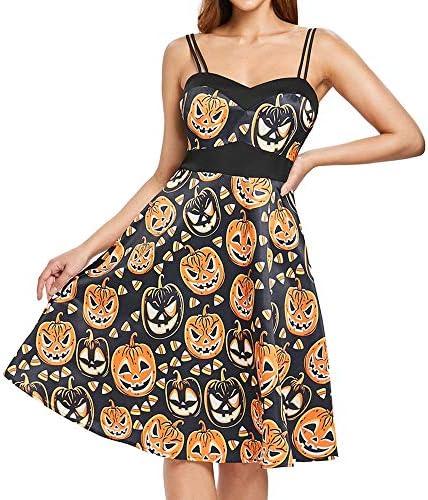 ハロウィン ワンピース コスプレ 仮装 大人 レディース 袖なし かぼちゃ デビル aライン キャミソールスカート 洋装 洋服