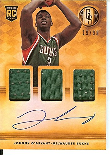 Basketball NBA 2014-15 Gold Standard Rookie Jersey Autographs Triple #297 Johnny O'Bryant RC Rookie MEM Auto 19/99 Bucks from Gold Standard
