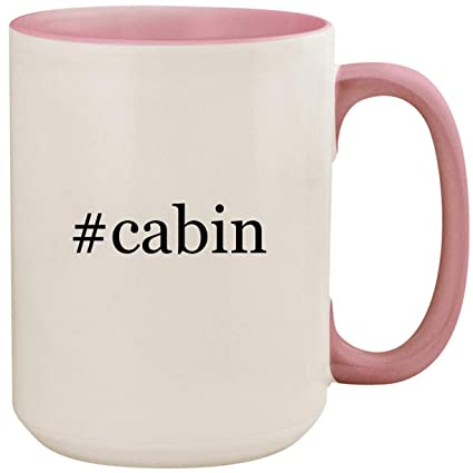 Review #cabin - 15oz Ceramic Colored Inside and Handle Coffee Mug Cup, Pink