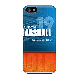 Shock Absorbent Hard Cell-phone Case For Iphone 5/5s (Mke20146TiSe) Custom Colorful Miami Dolphins Series