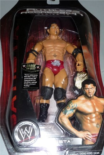 Jakks Pacific WWE Ruthless Aggression 18 Batista Action Figure with World Heavyweight Championship Belt ()