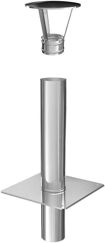 Schornsteinverl/ängerung einwandig 0,6 mm DN 225 500 mm
