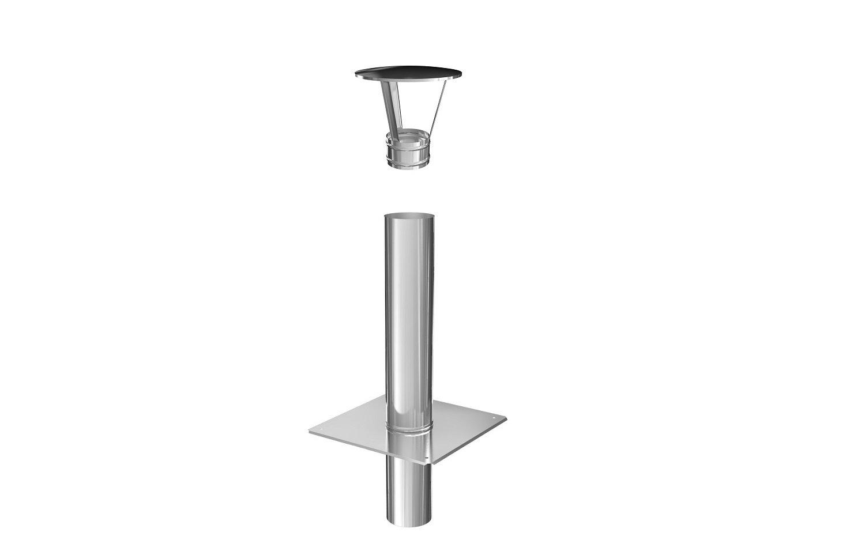 Haube Schornsteinverl/ängerung Kaminverl/ängerung einwandig DN /Ø 113 mm 0,5 m