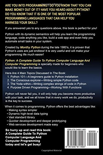 Python python programming for beginners learn the basics of python python python programming for beginners learn the basics of python programming computer programming for beginners joseph connor 9781546611493 fandeluxe Images