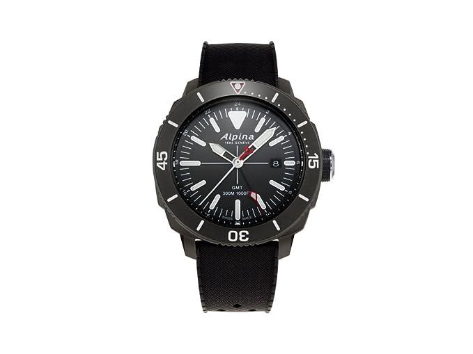 Alpina Geneve Seastrong Quartz GMT AL-247LGG4TV6 Reloj de Pulsera para Hombres: Amazon.es: Relojes