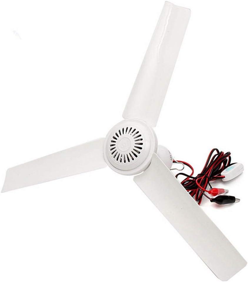 Hpybest DC12V 6W - Ventilador de Techo con Interruptor (plástico, 3 Hojas, sin escobillas): Amazon.es: Hogar