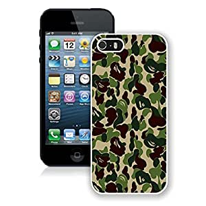 Coolest Iphone 5s Case Camo Designer Durable Soft Silicone Cell Phone White Cover for Apple Iphone 5