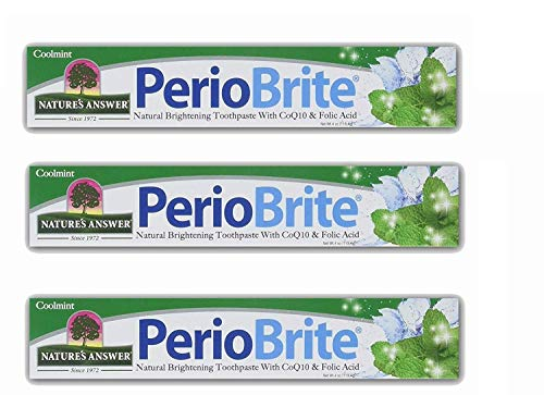 Nature's Answer Periobrite Natural Toothpaste, Cool Mint, 4 Ounce, 3 Count