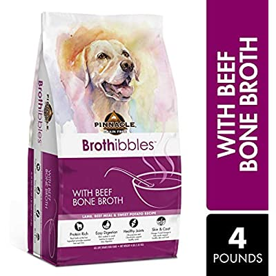 Pinnacle Pet Brothibbles Lamb, Beef Meal and Sweet Potato Recipe with Beef Bone Broth, All Life Stages Dry Dog Food