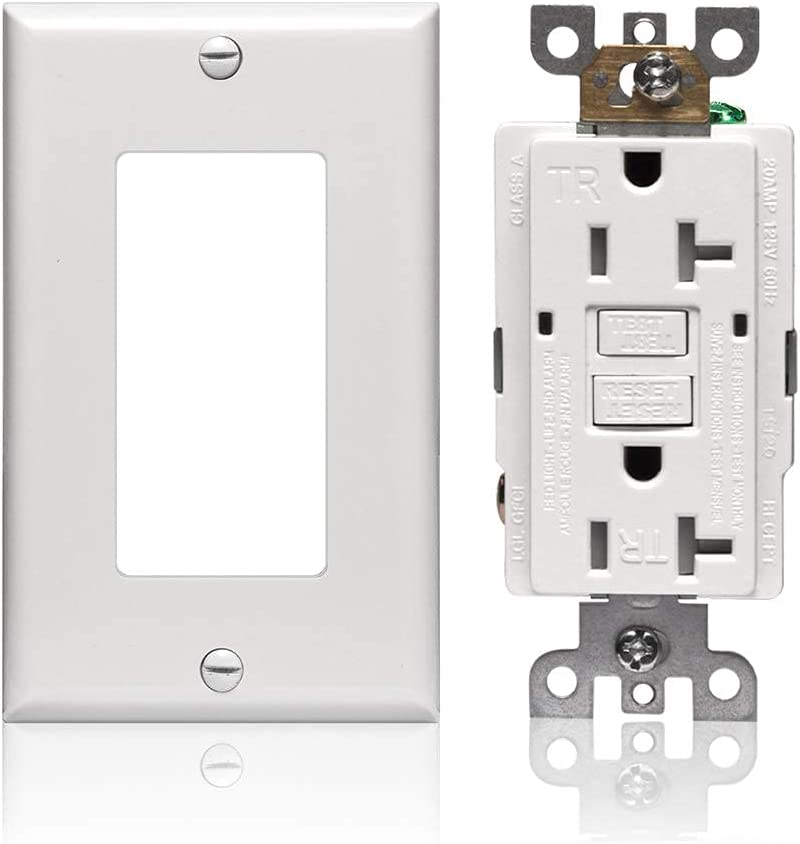1 pc Tamper Resistant 20A TR GFCI Outlet 20 Amp White SELF TEST SELF GROUND GFI
