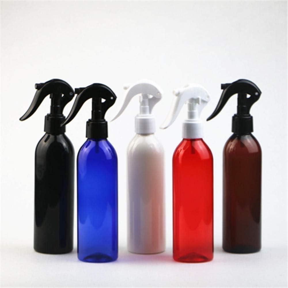 Regadera de gatillo manual multipropósito de 250 ml Regadera de limpieza de plástico PET para viajes, belleza, limpieza, jardinería-Boquilla transparente + transparente